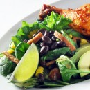 Fresh Greens with Peanut Lime Dressing