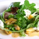 Mixed Greens with Candied Almonds and Goat Cheese