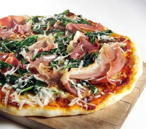 Spinach and Prosciutto Pizza