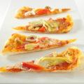 Thin Crust Artichoke and Genoa Salami Pizza