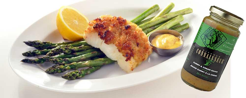 Curry Cream-Panko Crusted Fresh Cod